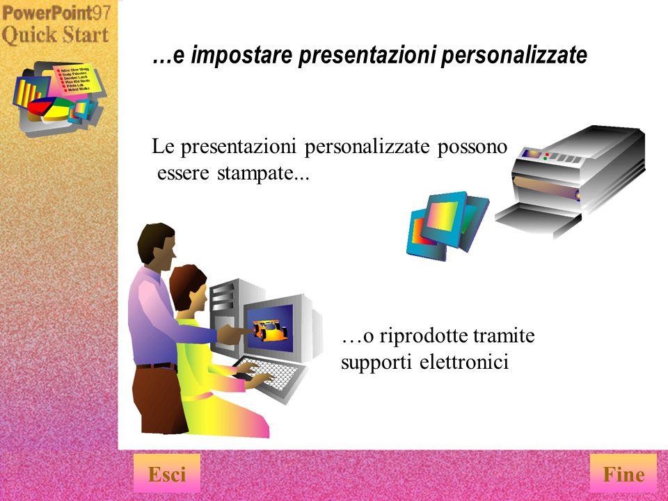 …e impostare presentazioni personalizzate