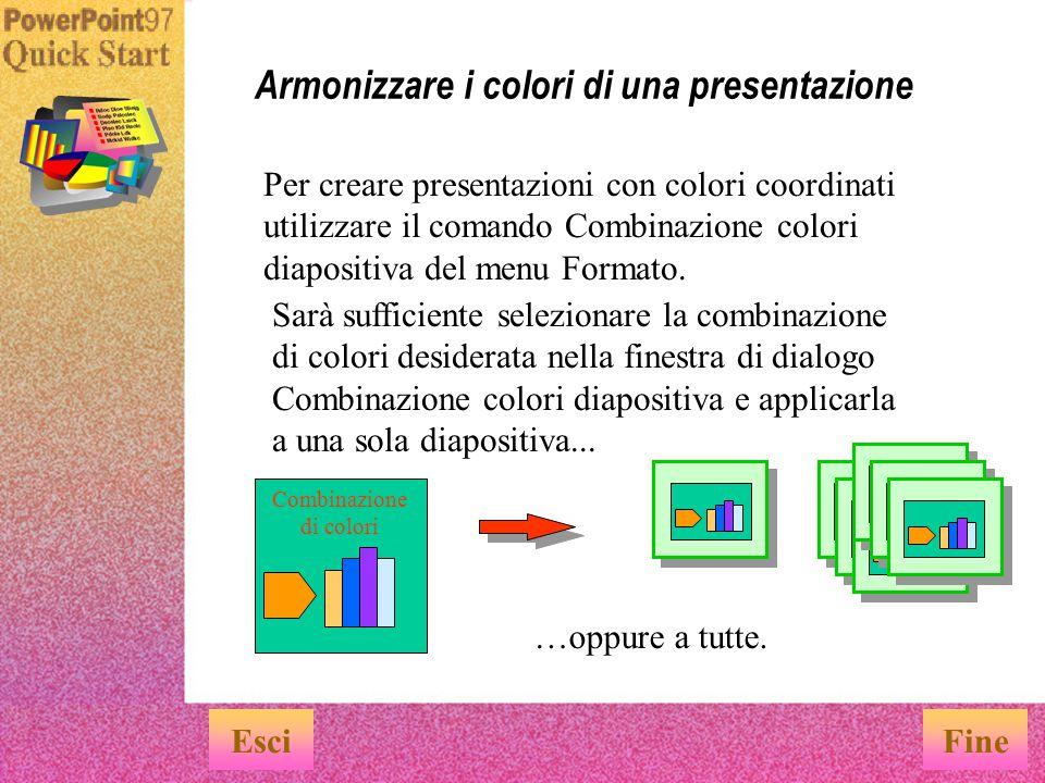 Armonizzare i colori di una presentazione