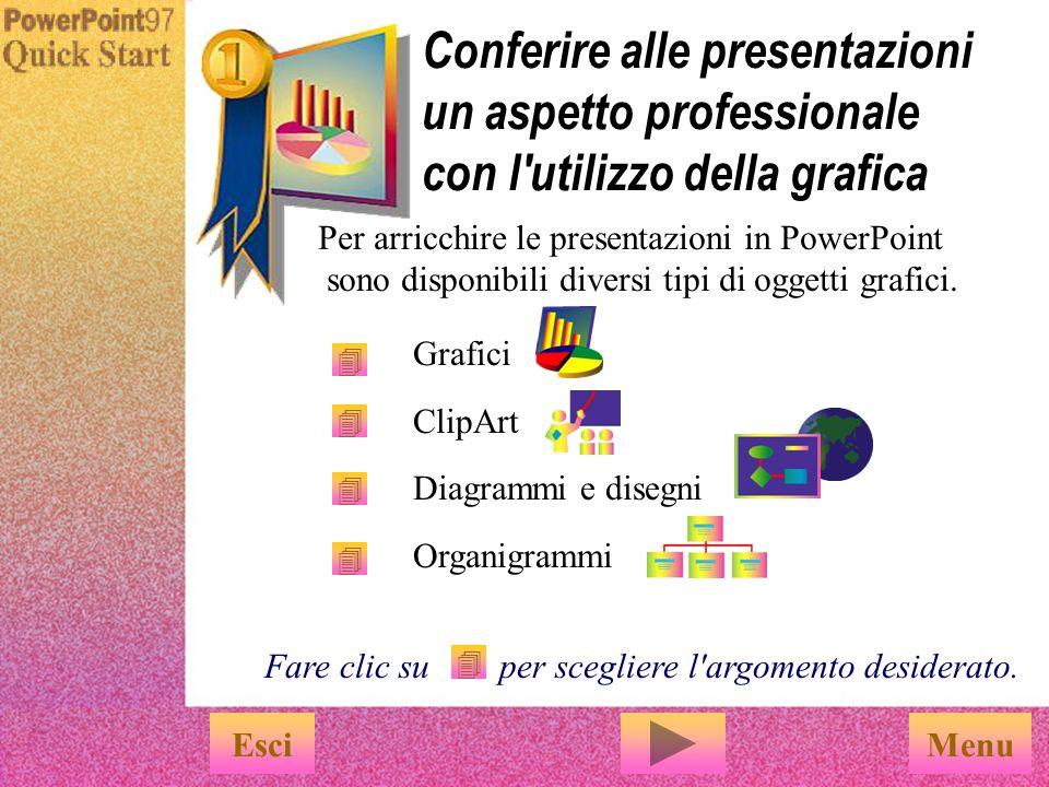 Conferire alle presentazioni un aspetto professionale con l utilizzo della grafica