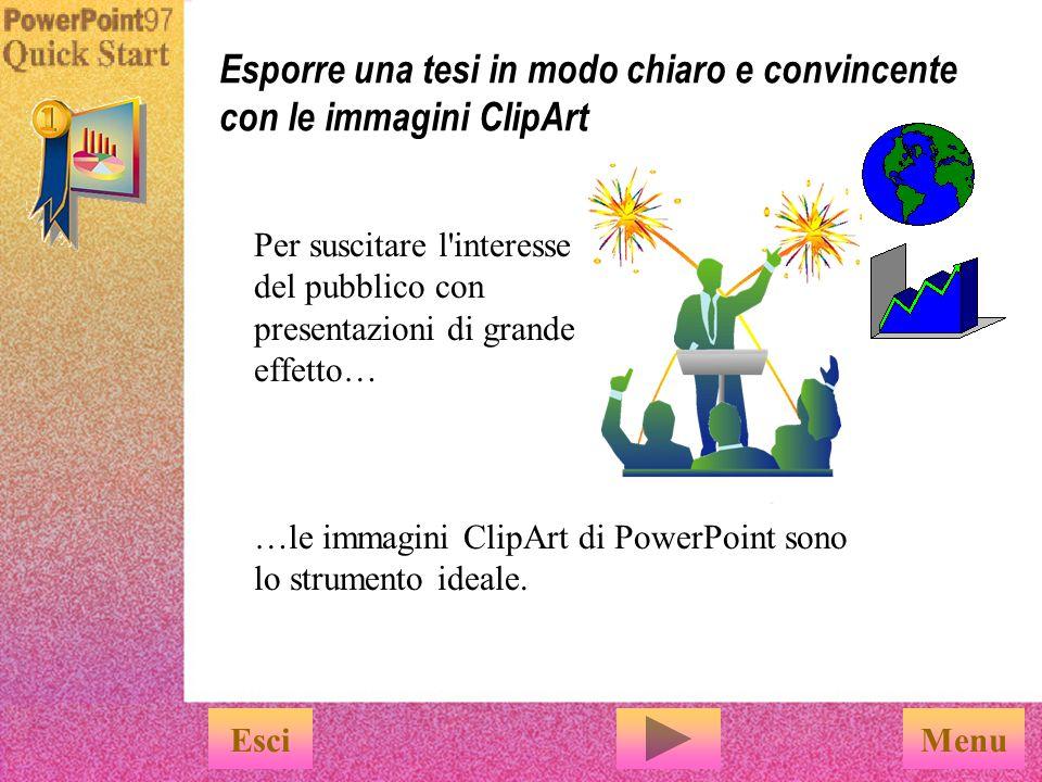 Esporre una tesi in modo chiaro e convincente con le immagini ClipArt