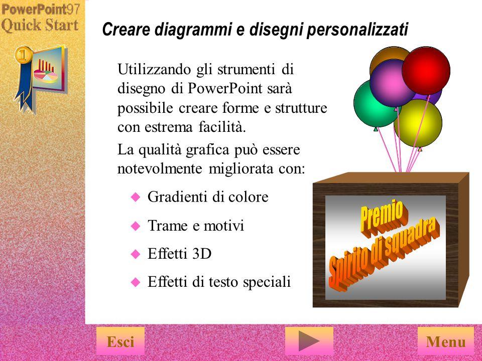 Creare diagrammi e disegni personalizzati