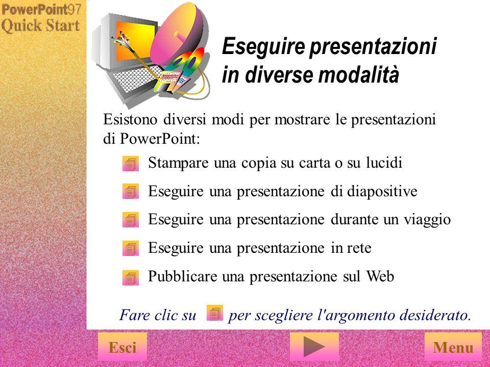 Eseguire presentazioni in diverse modalità