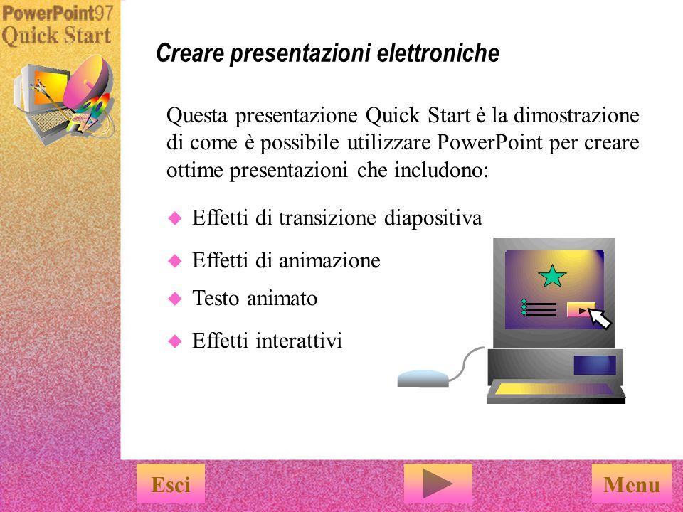 Creare presentazioni elettroniche
