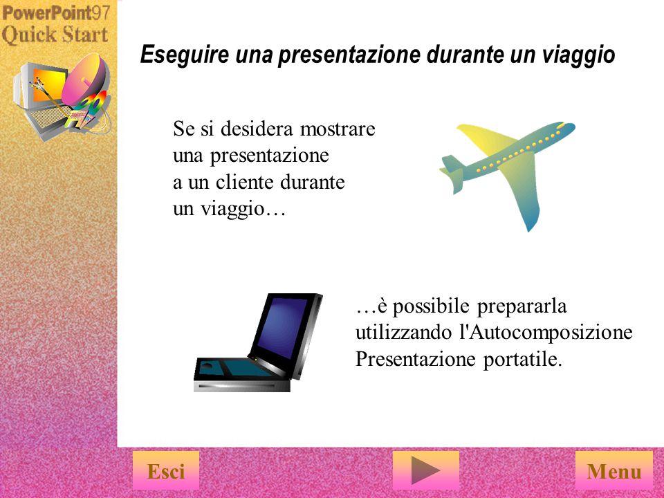 Eseguire una presentazione durante un viaggio