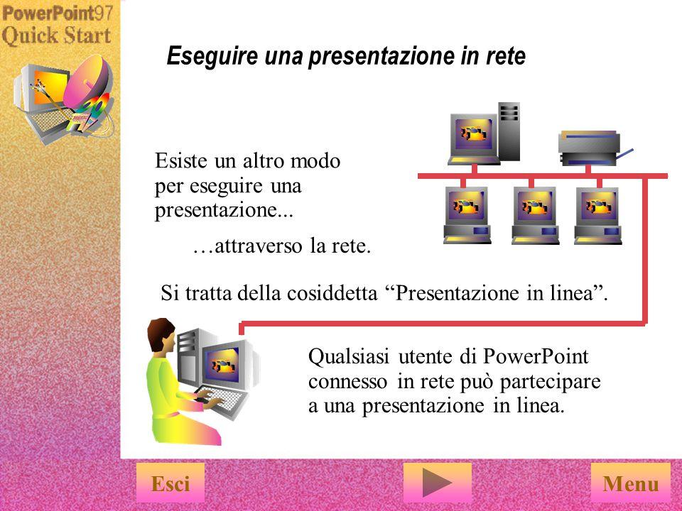 Eseguire una presentazione in rete