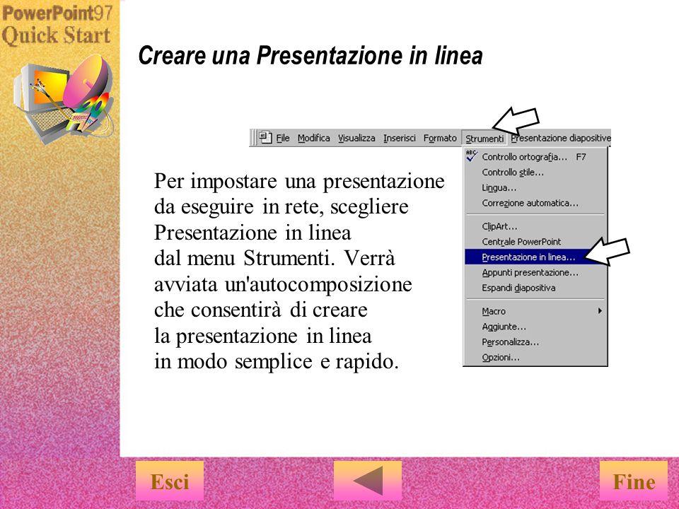 Creare una Presentazione in linea