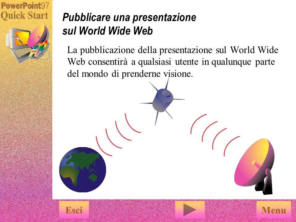 Pubblicare una presentazione sul World Wide Web