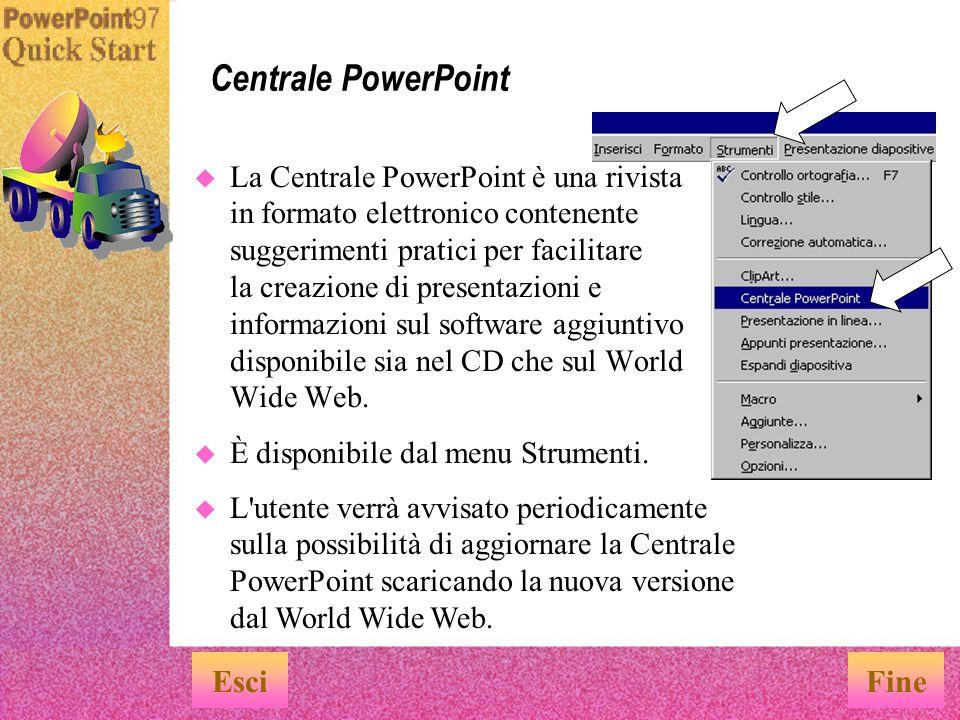 Centrale PowerPoint Esci Fine