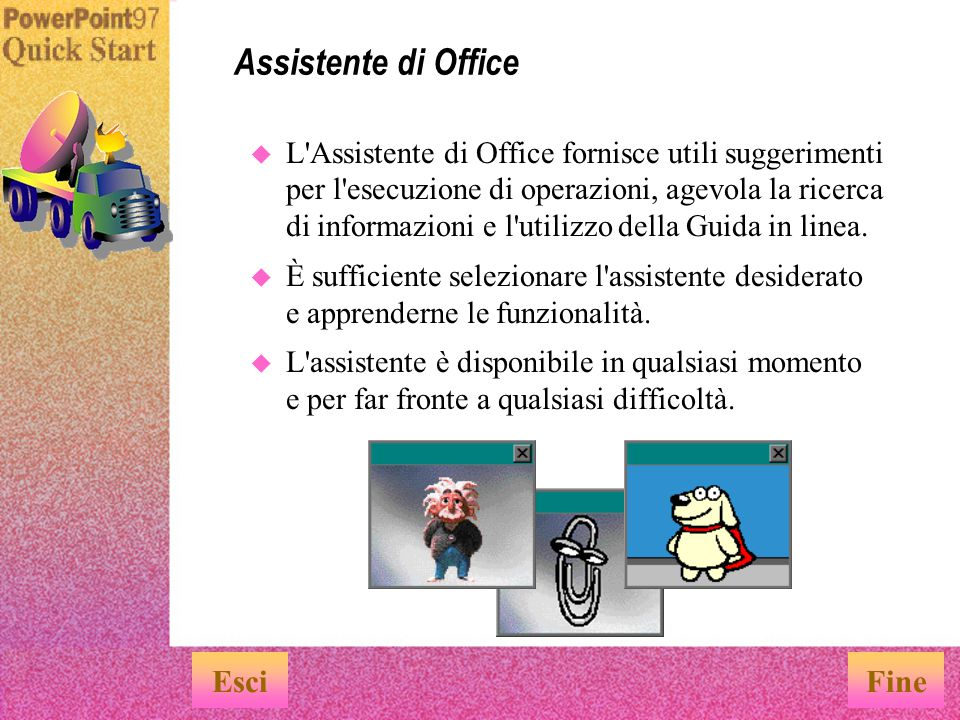 Assistente di Office Esci Fine