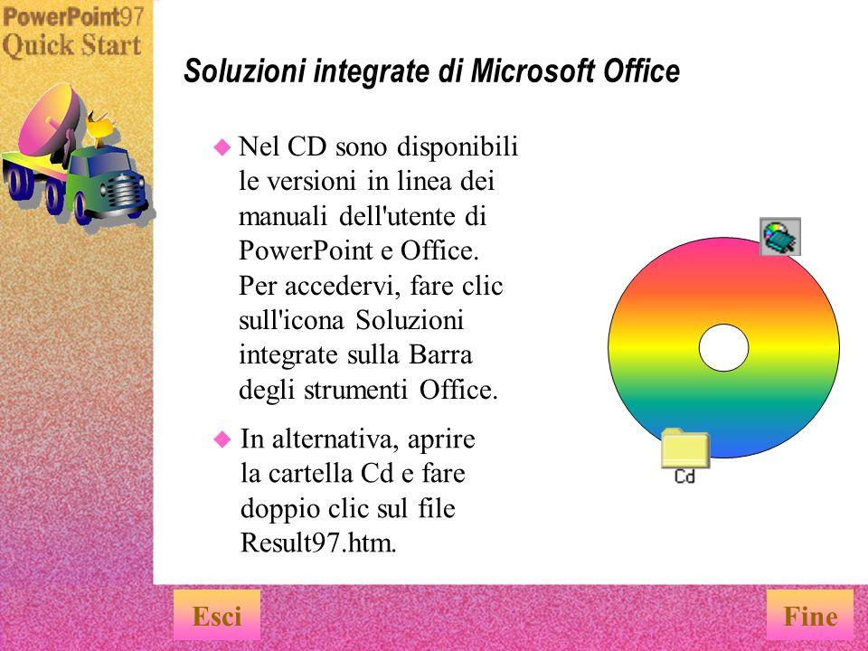 Soluzioni integrate di Microsoft Office