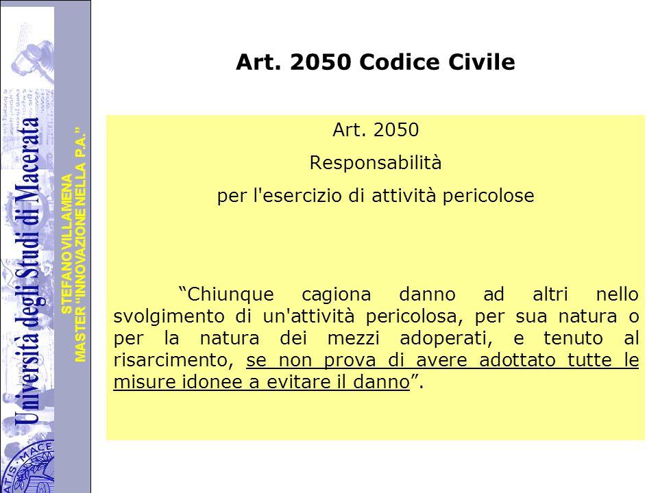Art. 2050 Codice Civile