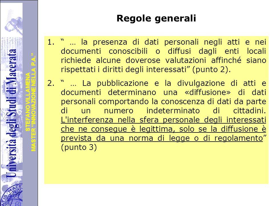 Regole generali