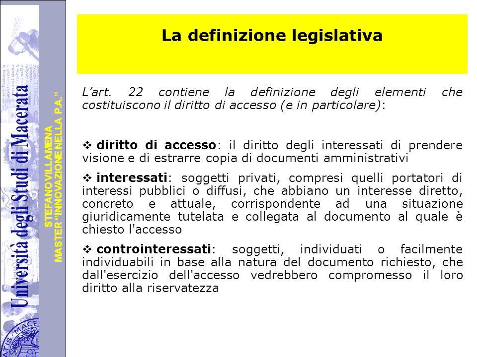 La definizione legislativa