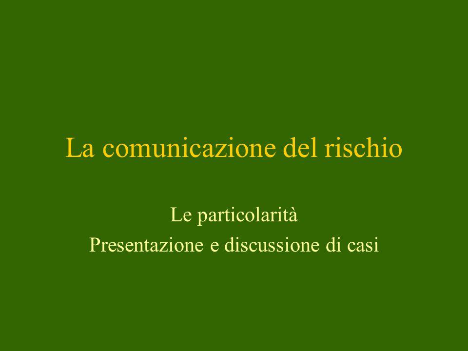La comunicazione del rischio