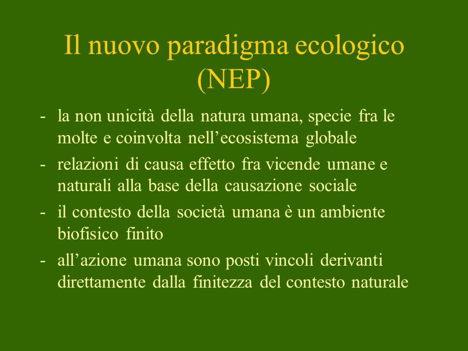 Il nuovo paradigma ecologico (NEP)