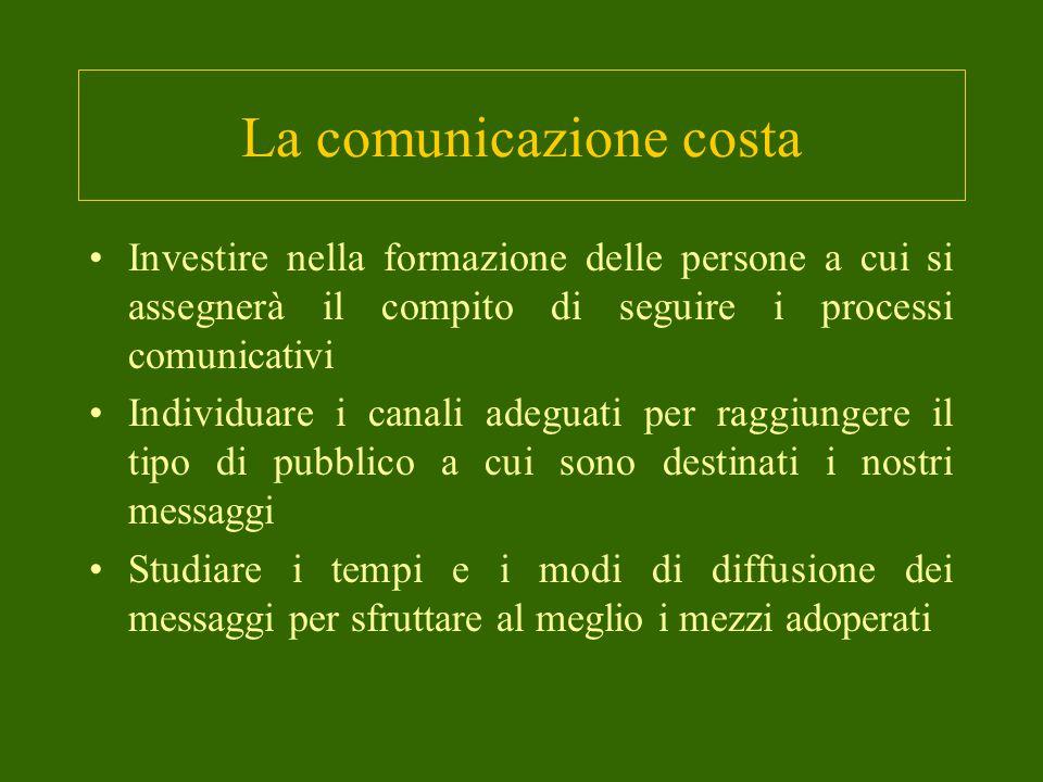 La comunicazione costa