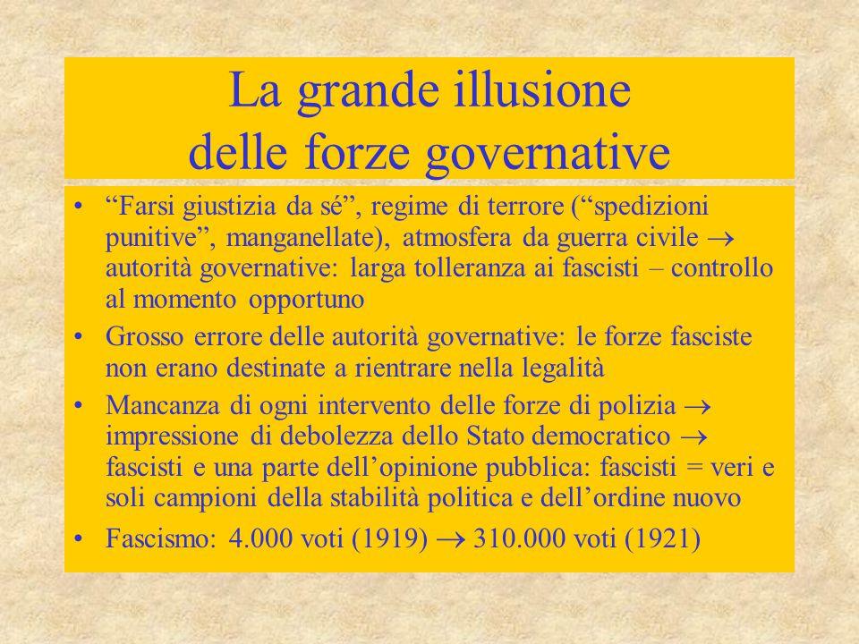 La grande illusione delle forze governative