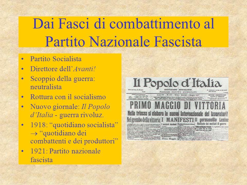 Dai Fasci di combattimento al Partito Nazionale Fascista