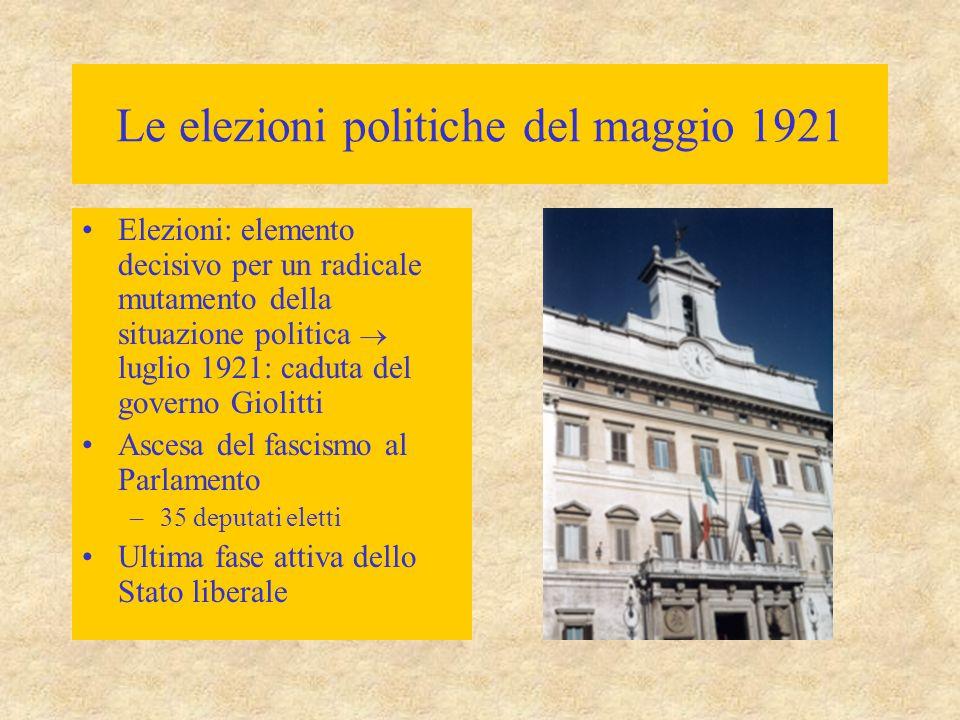 Le elezioni politiche del maggio 1921