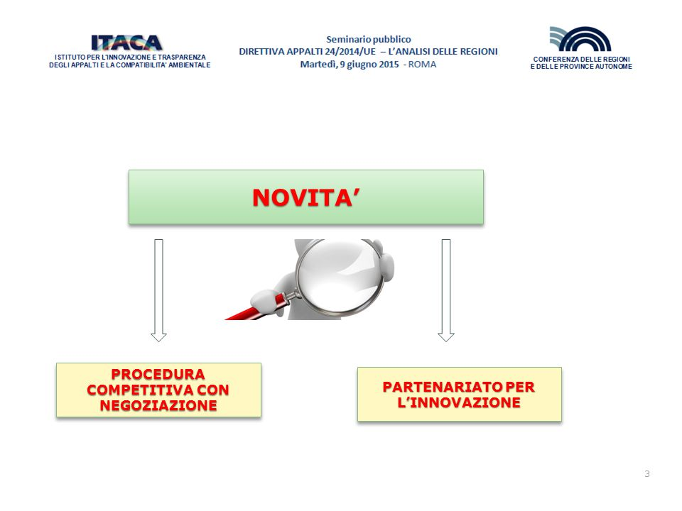 PROCEDURA COMPETITIVA CON NEGOZIAZIONE PARTENARIATO PER L'INNOVAZIONE