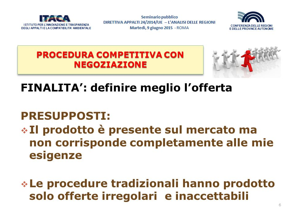 PROCEDURA COMPETITIVA CON NEGOZIAZIONE