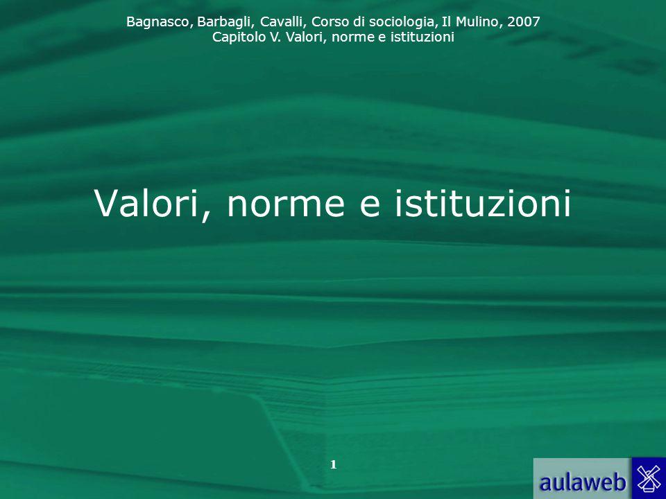 Valori, norme e istituzioni