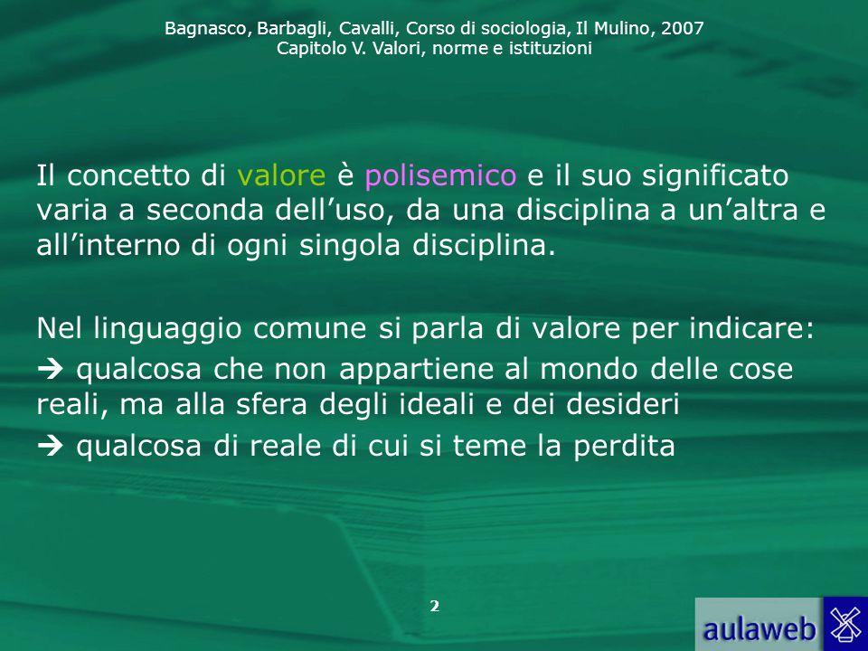 Il concetto di valore è polisemico e il suo significato varia a seconda dell'uso, da una disciplina a un'altra e all'interno di ogni singola disciplina.