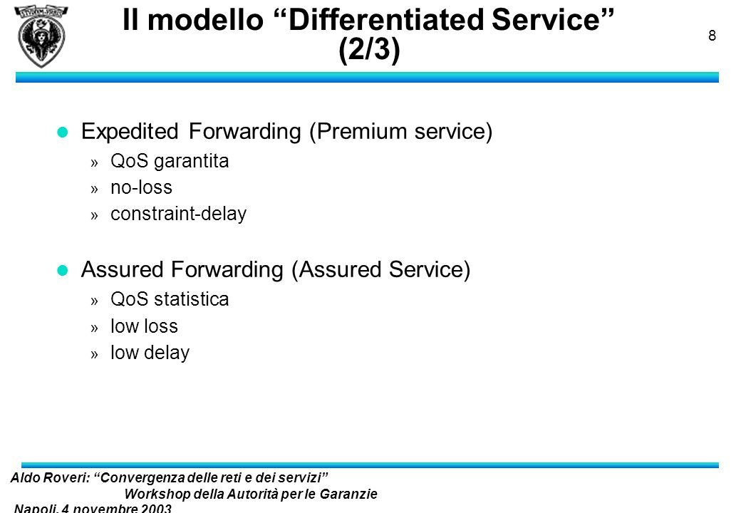 Il modello Differentiated Service (2/3)