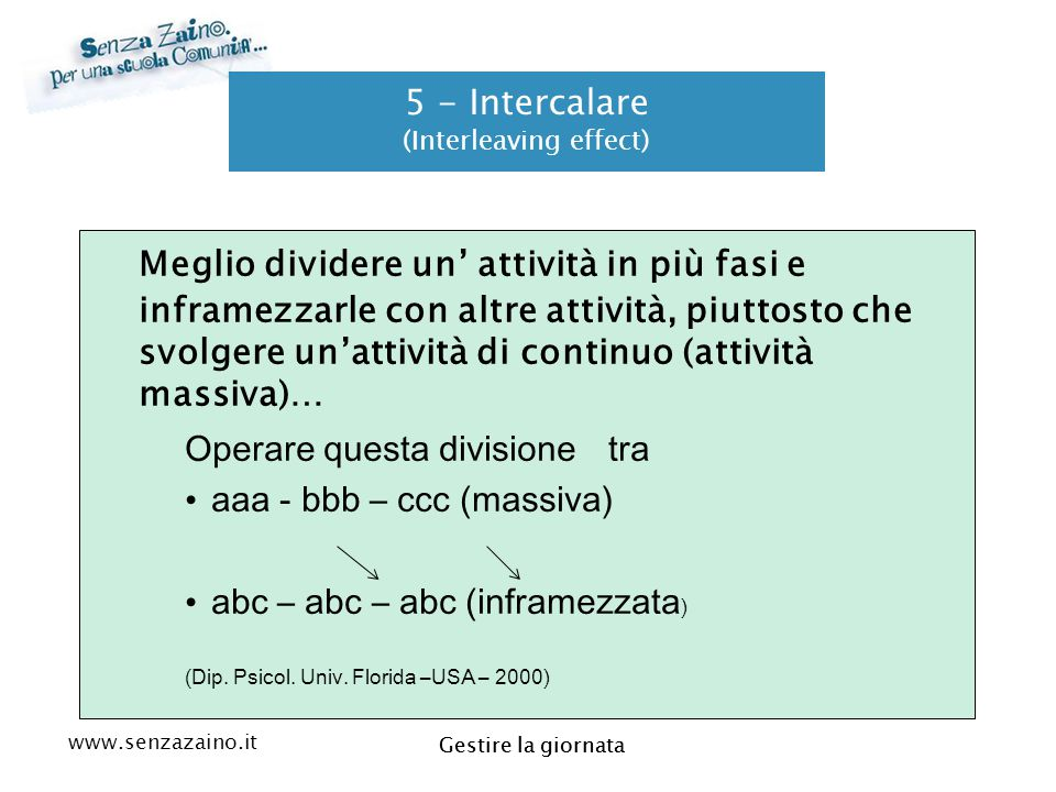 5 - Intercalare (Interleaving effect)
