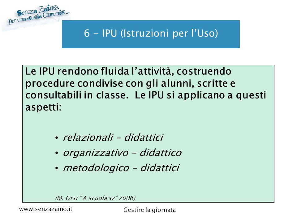 6 - IPU (Istruzioni per l'Uso)