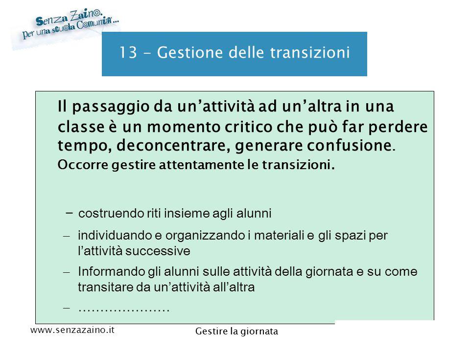 13 - Gestione delle transizioni