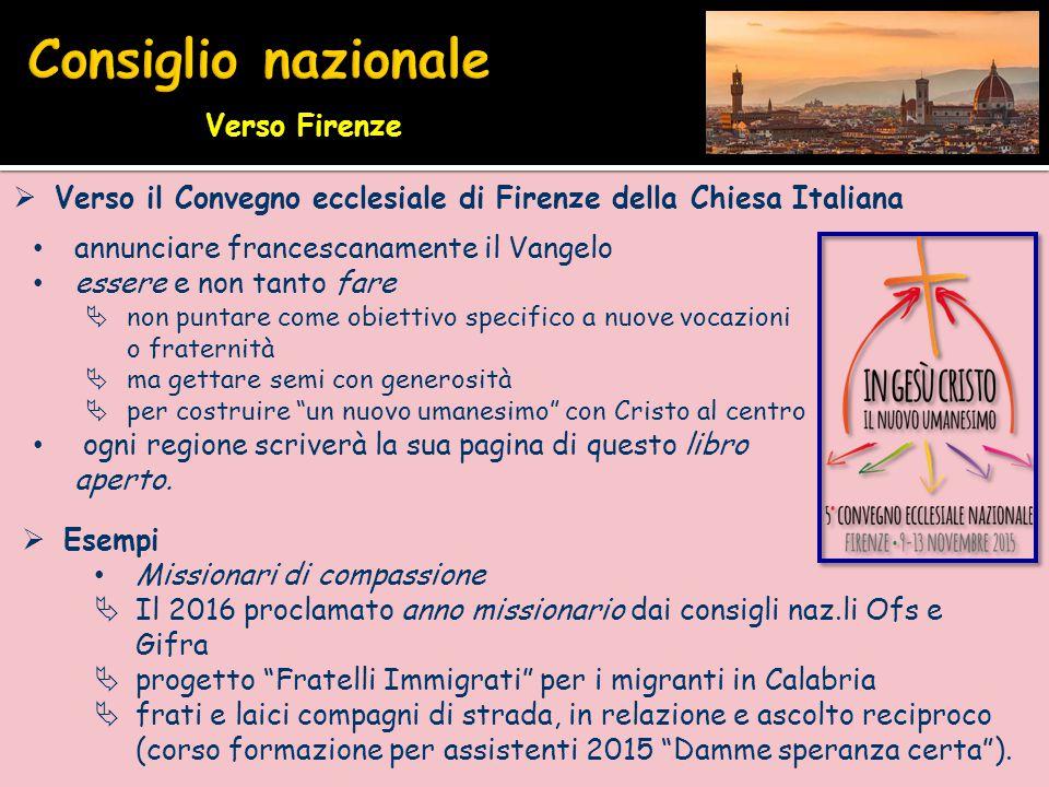 Consiglio nazionale Verso Firenze