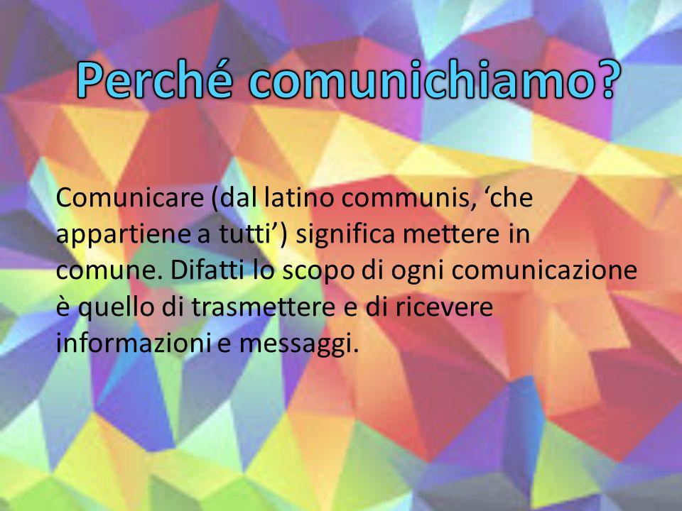 Perché comunichiamo