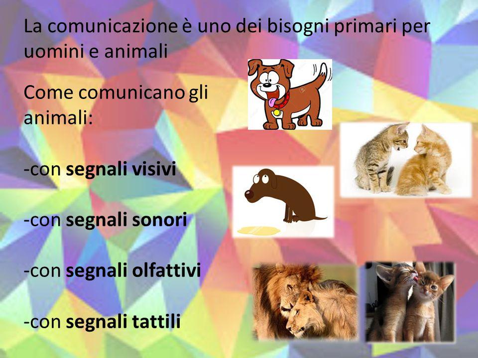 La comunicazione è uno dei bisogni primari per uomini e animali