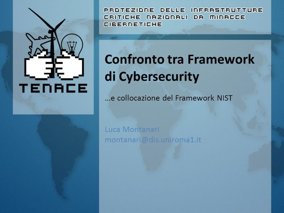 Confronto tra Framework di Cybersecurity