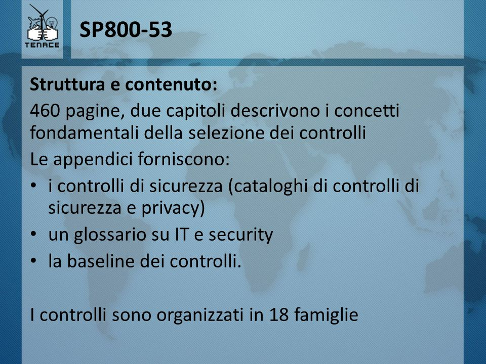 SP800-53 Struttura e contenuto: