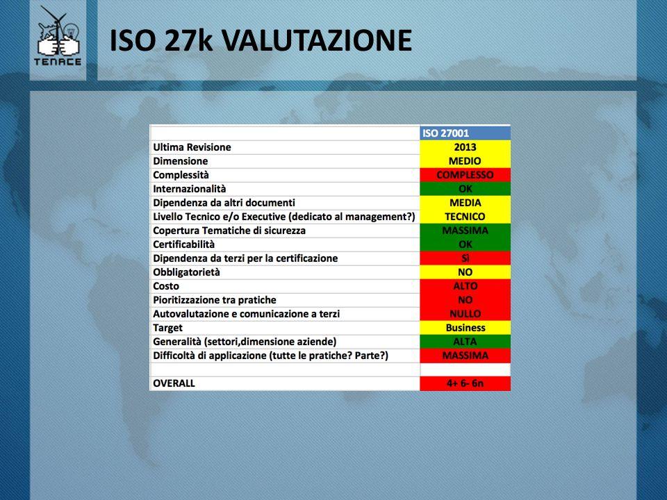 ISO 27k VALUTAZIONE