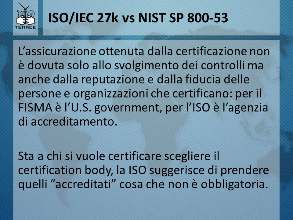 ISO/IEC 27k vs NIST SP 800-53