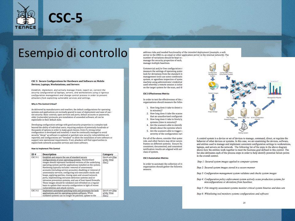 CSC-5 Esempio di controllo