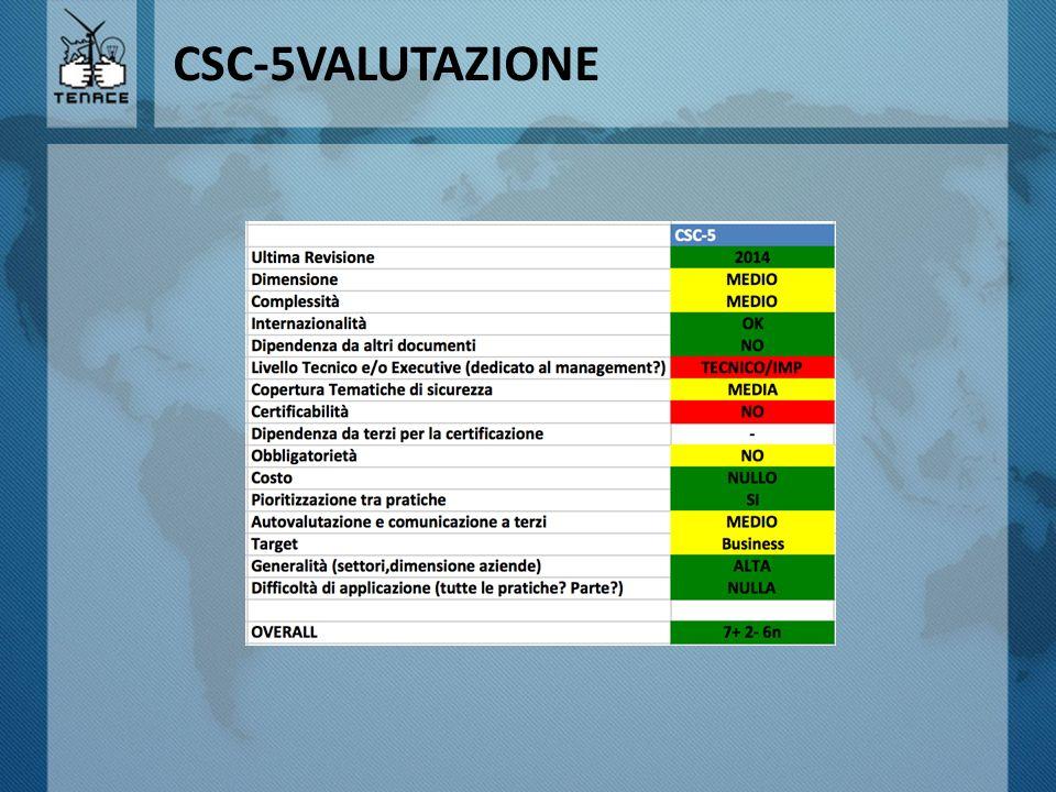 CSC-5VALUTAZIONE