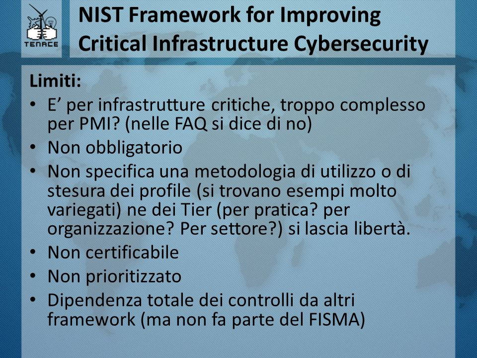 NIST Framework for Improving Critical Infrastructure Cybersecurity