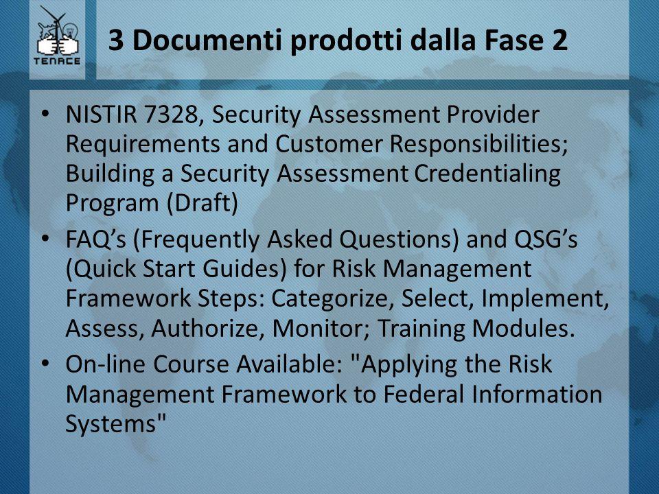 3 Documenti prodotti dalla Fase 2