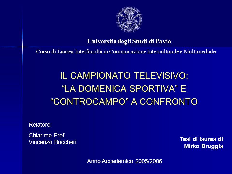 IL CAMPIONATO TELEVISIVO: LA DOMENICA SPORTIVA E