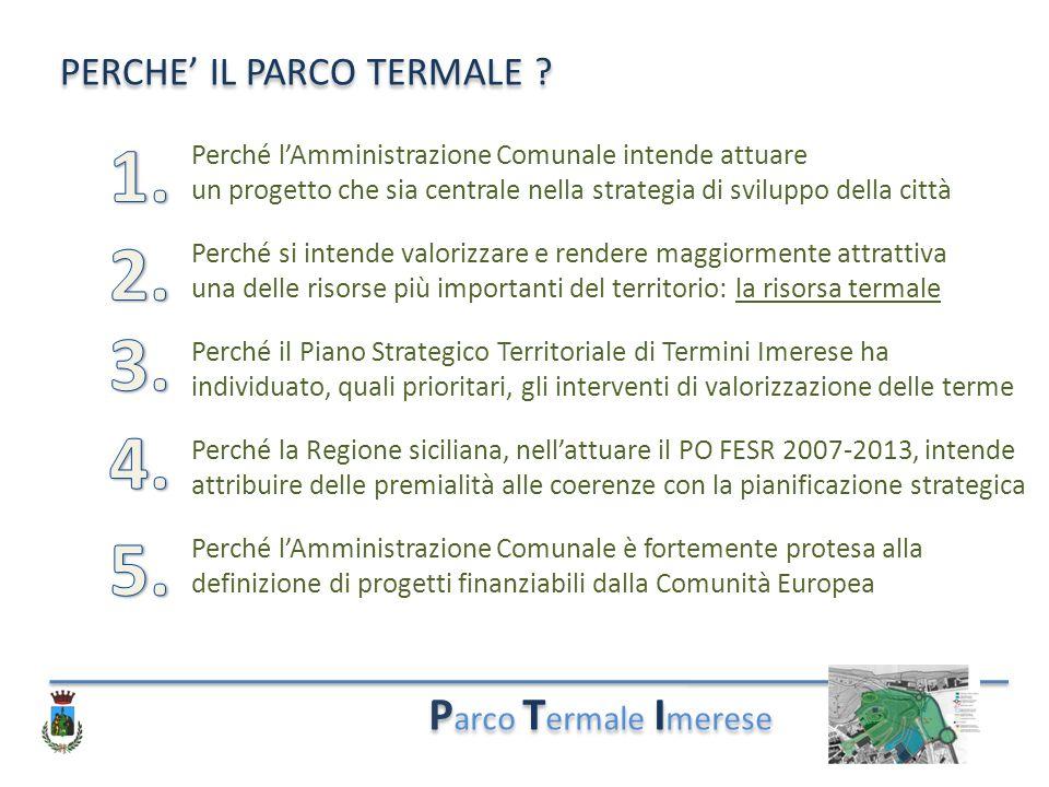 1. 2. 3. 4. 5. Parco Termale Imerese PERCHE' IL PARCO TERMALE