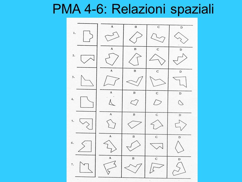 PMA 4-6: Relazioni spaziali