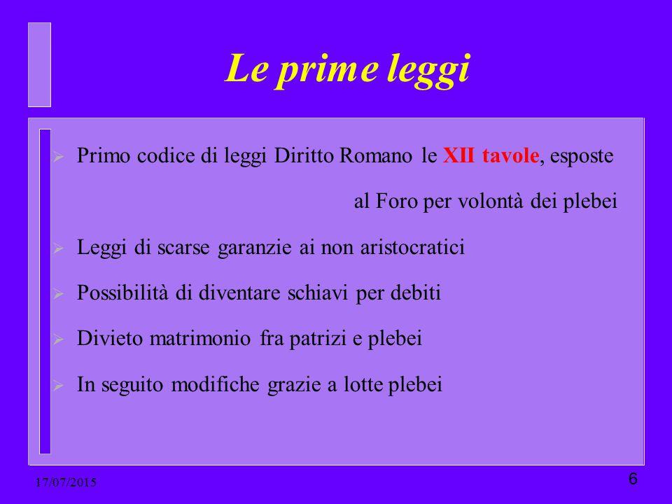 Le prime leggi Primo codice di leggi Diritto Romano le XII tavole, esposte. al Foro per volontà dei plebei.