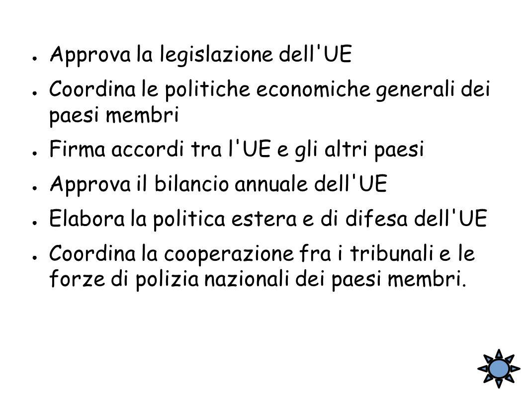 Approva la legislazione dell UE