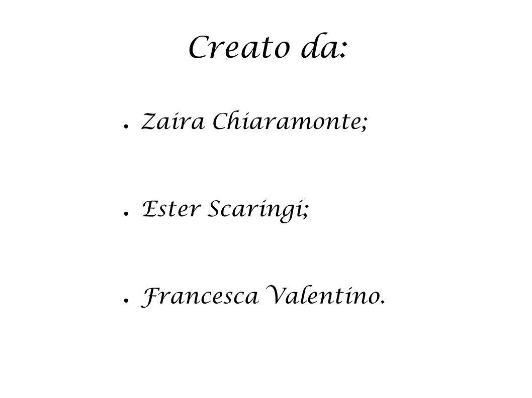 Creato da: Zaira Chiaramonte; Ester Scaringi; Francesca Valentino.
