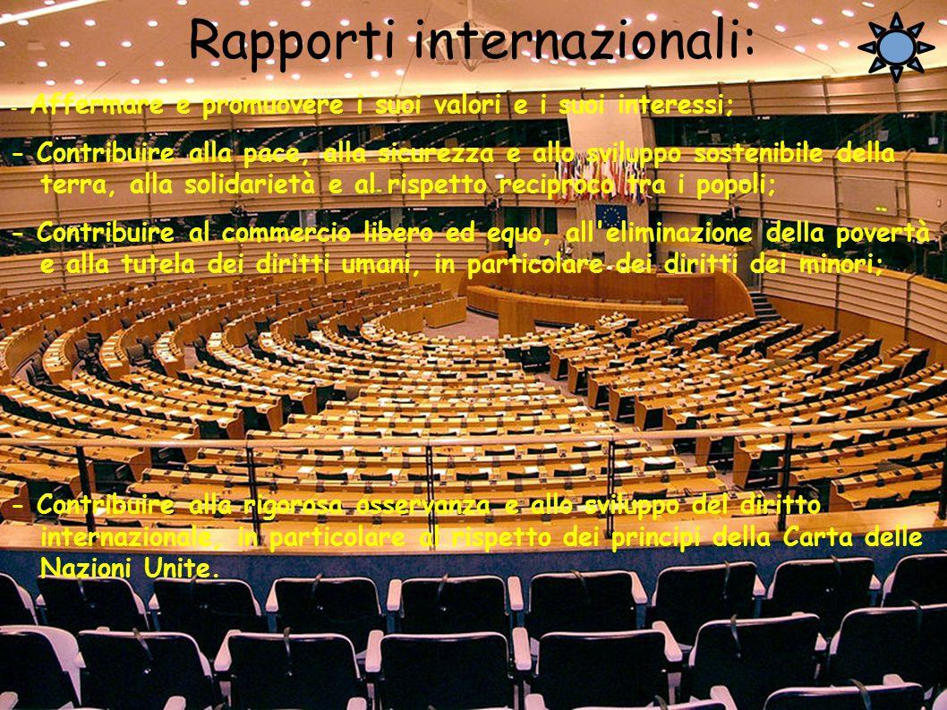 Rapporti internazionali: