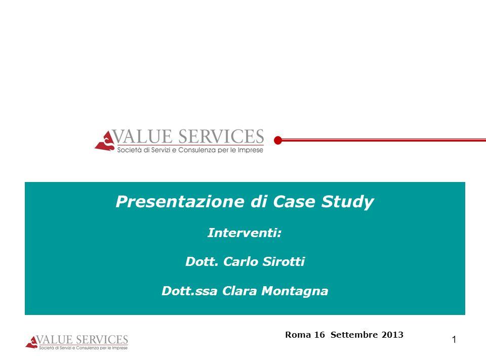 Presentazione di Case Study Dott.ssa Clara Montagna